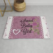 sweet baby girl rug