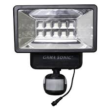 Gama Sonic 160° Black Outdoor Solar Powered Security Light With Solar Sensor Security Light