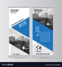 Business Banner Design Roll Up Business Banner Design Vertical Template Vector Image