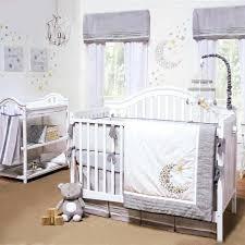 star bedding sets gray white celestial moon w stars baby uni nursery 4 crib bedding set