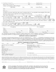 Rent Lease Application Form Download Free Arizona Rental Application Form Printable