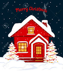 christmas house template merry christmas and happy new year seasonal winter card template