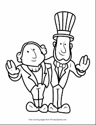 Small Picture Day Coloring Pages Presidentsu Page Barack Obama Primarygames Play