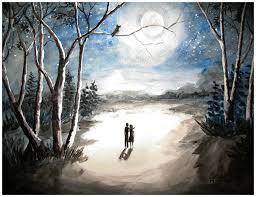 moonlit night sweet memory by shashikanta