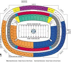 2018 Acc Tournament Seating Chart By School Acc Championship Game 2017 Seating Chart