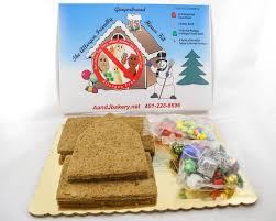 Premade Gingerbread Houses Gingerbread Houses Aj Bakery Delicious Allergy Free Baked Goods