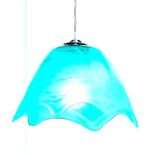 blue pendant light shade shades glass navy kitchen lights shad