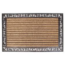 Molded Large Double Striped Coir Door Mat – A1HCSHOP