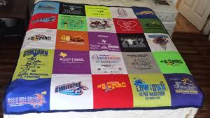 Hello, ReFabulous!: The marathon quilt: how to sew with polyester ... & sewing tips for constructing a t-shirt quilt from running athletic shirts  (polyester) Adamdwight.com