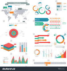 Big Set Performance Chart Pie Charts Royalty Free Stock Image
