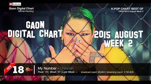 Top 20 Gaon Chart Korea Billboard August Week 2 2015 By Kpop Chart Best Of