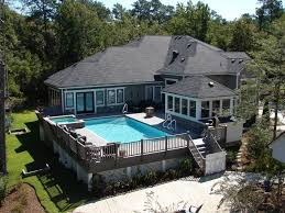 Above ground pool with deck attached to house Diving Board 42 Above Ground Pools With Decks Tips Ideas Design Inspiration Indoor And Outdoor Design Ideas Pool Built Into Deck Home Design Ideas