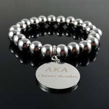 alpha kappa alpha charter member bracelet