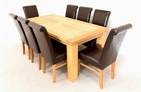 modern oak dining table beautiful solid wood table and chairs contemporary impressive dining room