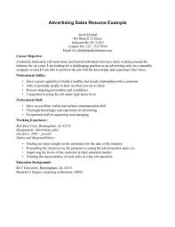 Advertising Sales Resume Objective For Sales Resume Retail Associate Sample To Put On A 18