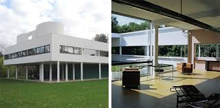 Contemporary vs Modern: The difference. MODERN - Villa Savoye by Le  Corbusier | a classic example of large open plan,
