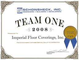 team one award presented by schonsheck inc imperial