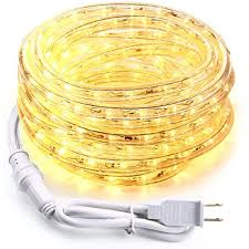 Clear White Rope Lights Brizled 18ft 216 Led Rope Lights 120v Ul Listed Plugin Rope