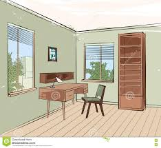 Where To Place Furniture In Living Room Home Interior Work Place Furniture Living Room Sketch Stock