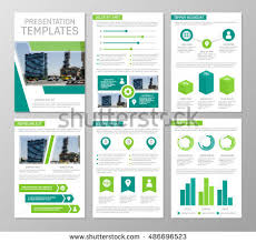 presentation charts and graphs vector green template multipurpose presentation slides stock vector