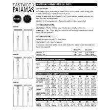 Linen Weight Chart Eastwood Pajamas By Thread Theory