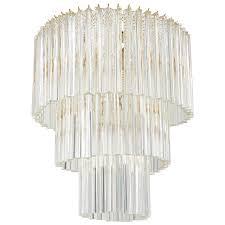 large venini triedri glass prism chandelier for