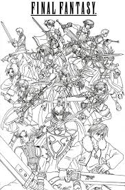 Final Fantasy Coloring Pages Coloringpw