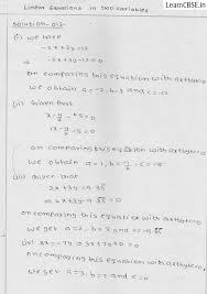 rd sharma solutions for class 9 chapter 13 linear equations in two variables