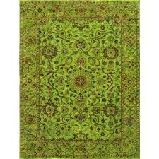 rugsville overdyed lime green rug 11099 9x12 admin over dyed rugs dyed rugs overdyed over dyed rugs