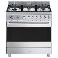 gas cooking stoves. Smeg CS9GVXA 90cm Freestanding Natural Gas Oven/Stove Cooking Stoves L