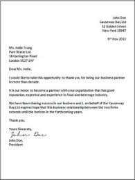 Indented Business Letter Format Business Letters Business