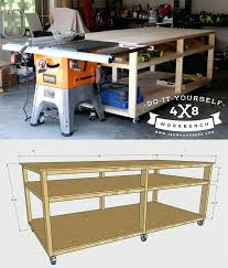 workbench with table saw how to build a workbench and table saw out feed table build