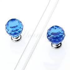 antique cobalt blue glass door knobs crystal handles drawer knob furniture wardrobe dresser cupboard
