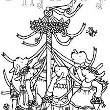 Small Picture Spring Activity Maypole May Day Coloring Pages Best Place to Color