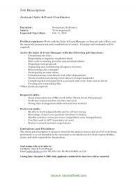 Event Coordinator Job Description Typical Event Coordinator Job Description Resume Event Coordinator 3