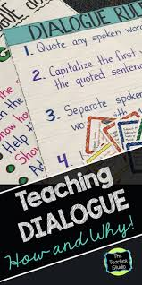 Dialogue Anchor Chart Teaching Dialogue And Why Its So Important The Teacher