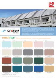 Bluescope Color Chart Clean Colorbond Lcp Building Products Pte Ltd