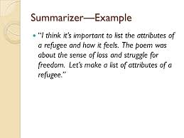 literature circles ppt  26 summarizer example ""