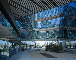 google office headquarters. Courtyard Encourages Public And Employee Interaction. (Courtesy NBBJ Samsung) Google Office Headquarters