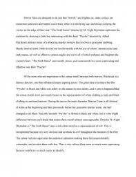 comparison essay the sixth sense and psycho essay zoom zoom zoom