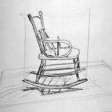 rocking chair drawing. Interesting Drawing Rocking Chair Drawing In T