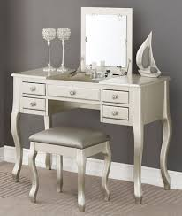 vanity table. Silver Makeup Vanity With Mirror Table A