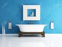 Blue Bathtub retro bathtub in a modern blue bathroom rendering stock photo 6548 by guidejewelry.us