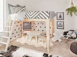 Loft bed with play area