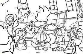 Small Picture Commerating the Descent of Holy Spirit in Pentecost Coloring Page