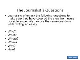 by anita j ghajar selim ppt  the journalist s questions