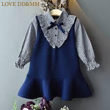 LOVE DD&MM Girls Dresses 2019 Spring <b>New Children's Clothing</b> ...