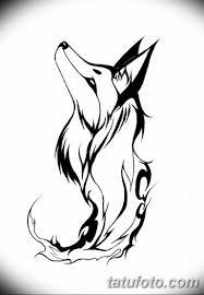 черно белый эскиз тату с лисой 09032019 009 Tattoo Sketch
