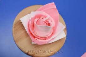 Paper Napkin Folding Flower How To Fold Napkins Into Beautiful Roses Video Diy Crafts