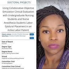 Aisha... - Diversity in Nurse Anesthesia Mentorship Program | Facebook